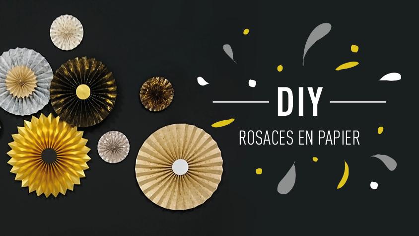 Rosaces en papier DIY