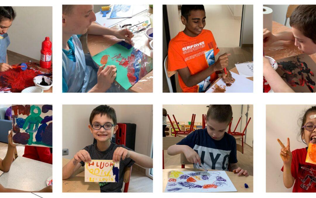 Exposition d'art pour les enfants autistes à paris